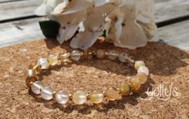 Golden Healer edelstenen armband 6 mm
