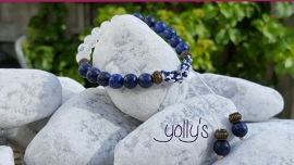 Lapis Lazuli met Irisquartz shambala