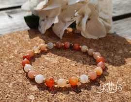 Botswana Agaat oranje edelsteen armband