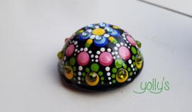 Gestipte bol lichtblauw/groen epoxy