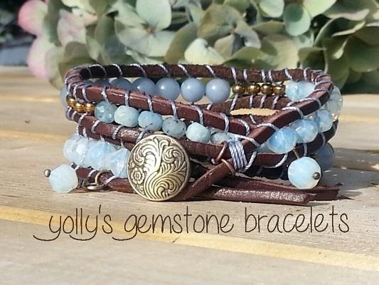 Yolly's gemstone  bracelets