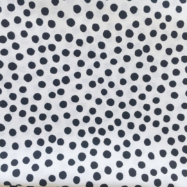 Rond boxkleed dots zwart/wit