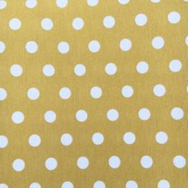 Dekentje dots  geel