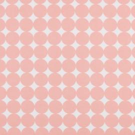 Aankleedkussenhoes rondjes  roze