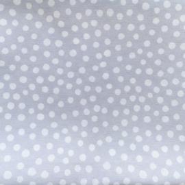 Aankleedkussenhoes dots lichtgrijs