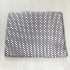 Boxkleed dots grijs