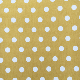 Aankleedkussenhoes dots okergeel