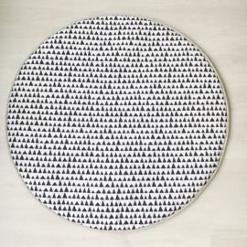 Rond boxkleed dots zwart/wit