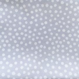 Dekentje dots licht grijs