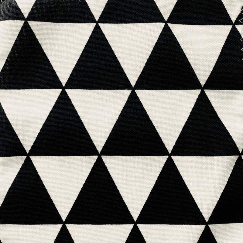 Rond boxkleed driehoekjes zwart/wit