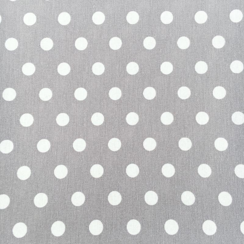 Rond boxkleed dots grijs