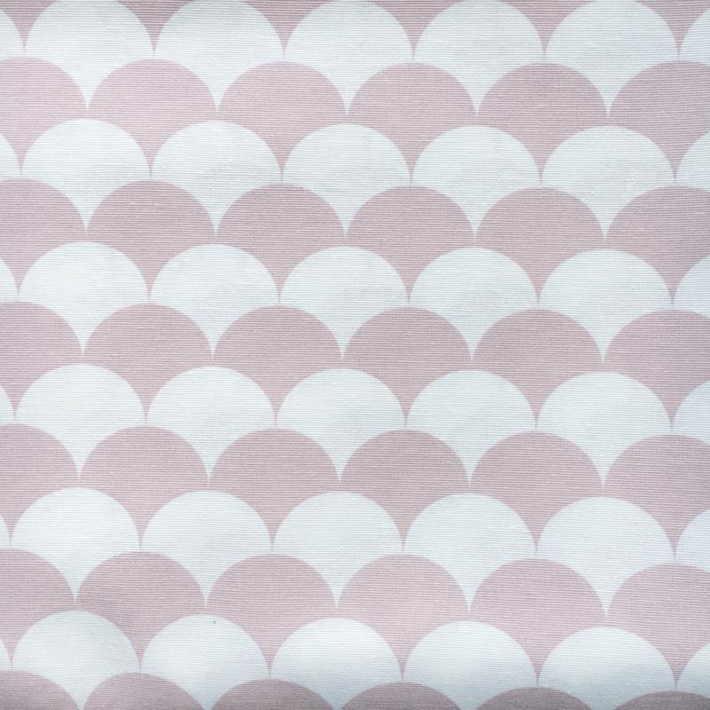Aankleedkussenhoes halve maantjes roze