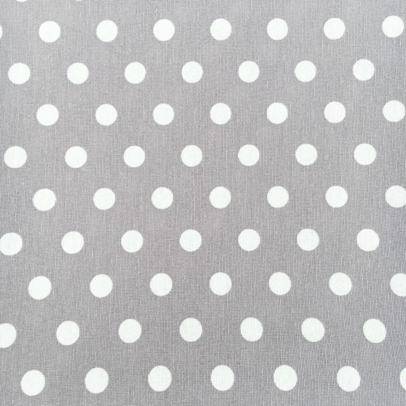 Dekentje dots grijs