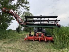 Double Cut set met Bomi hennep kooi en Hemput VI s op tractor