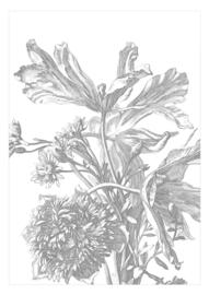 Behang | Engraved Flowers