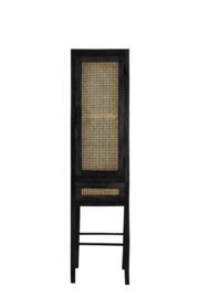 Cabinet | Nipas zwart met rotan