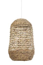 Hanglamp TRIPOLI Rotan naturel+wit