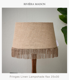 Fringes Linen Lampshade Flax (25x30)