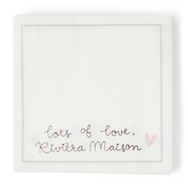Paper Napkin Lot's of Love