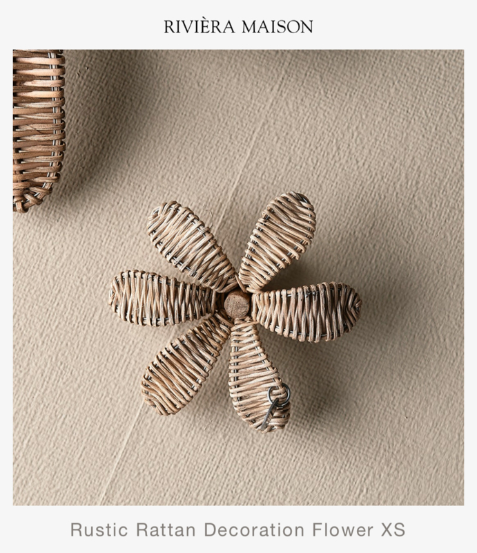 Rustic Rattan Decoration Flower XS