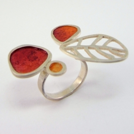 Mescal Orange Cocktail Ring