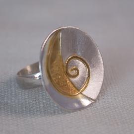 Sun Spiral Ring