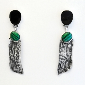 Wings Malachite Oorbellen