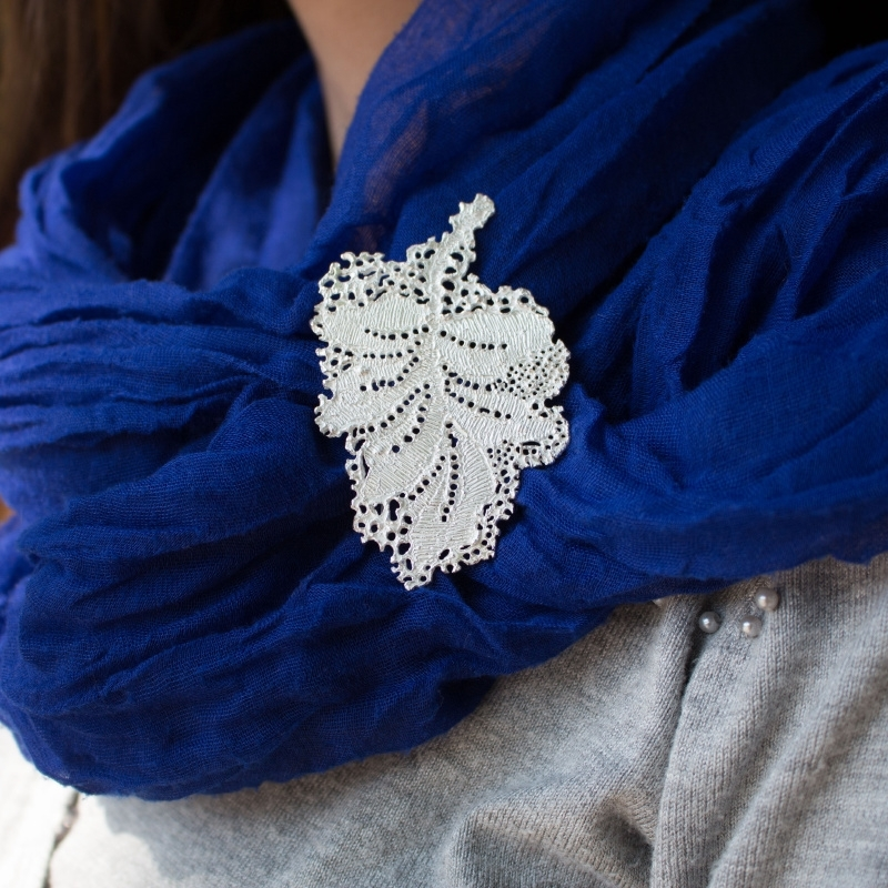 Lace Leaf Statement Broche