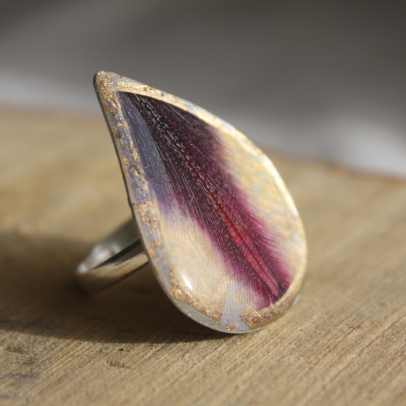 Tulip Drop Ring