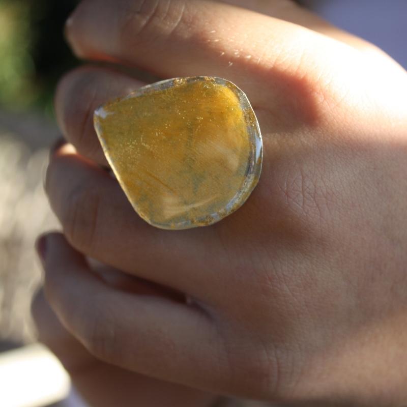 Yellow Drop Ring