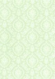 dollhouse 68840 groen wit stijlvol barok behang