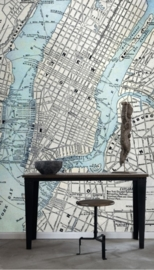 Esta Home Denim & Co. PhotowallXL old street map NY 157702