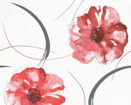 AS Creation Aquarelle bloemen behang 94088-5