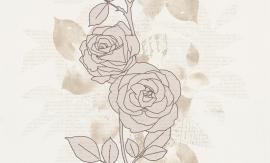 937483 La romantica beige bruin creme behang