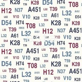 Esta Regatta Crew 136438 blauw rood cijfers letters behang