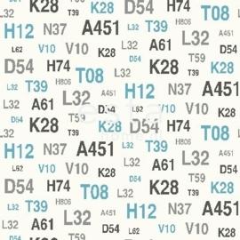 Esta Regatta Crew 136440 blauw grijs cijfers getal behang