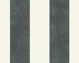 Strepen behang  zwart 36718-1