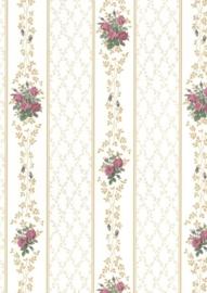dollhouse 68835 paars bruin beige bloemen ruitjes stijlvol behang