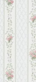 dollhouse 68836 rood blauw beige bloemen ruitjes stijlvol behang