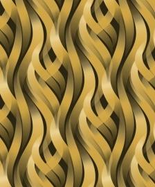 Dutch Kinetic retro goud behang j428-02