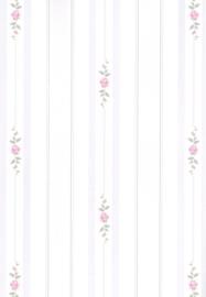 dollhouse 68844 paars wit groen stijlvol streep bloem behang