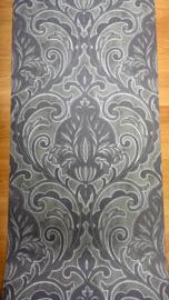 barok glitter vinyl taupe behang x209