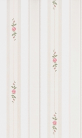 dollhouse 68842 rood groen beige stijlvol streep bloem behang