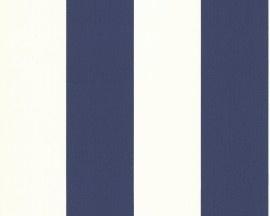 2356-33 marineblauw wit streepjes behang