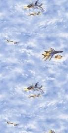 jongens behang blauw straaljagers stoer behang vliegtuig  11