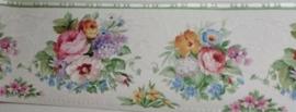 engelse bloemen roosjes lief country stijl behangrand xt13