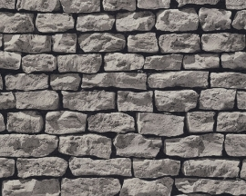 907912 grijs natuursteen steen behang -