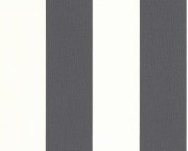 1790-50 grijs streepjes behang