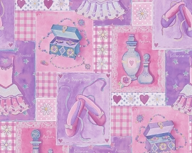 AS Creation Boys and Girls Patchwork behang 30597-1