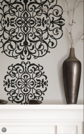 Dutch Wallcoverings Dessin - Zilver zwart